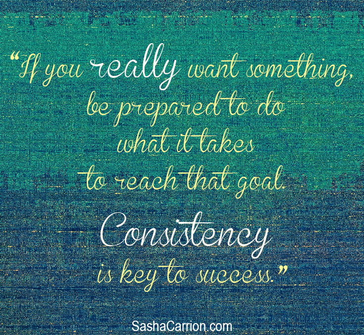 Success Strategy #6: Be Consistent.  Consistency Brings Success