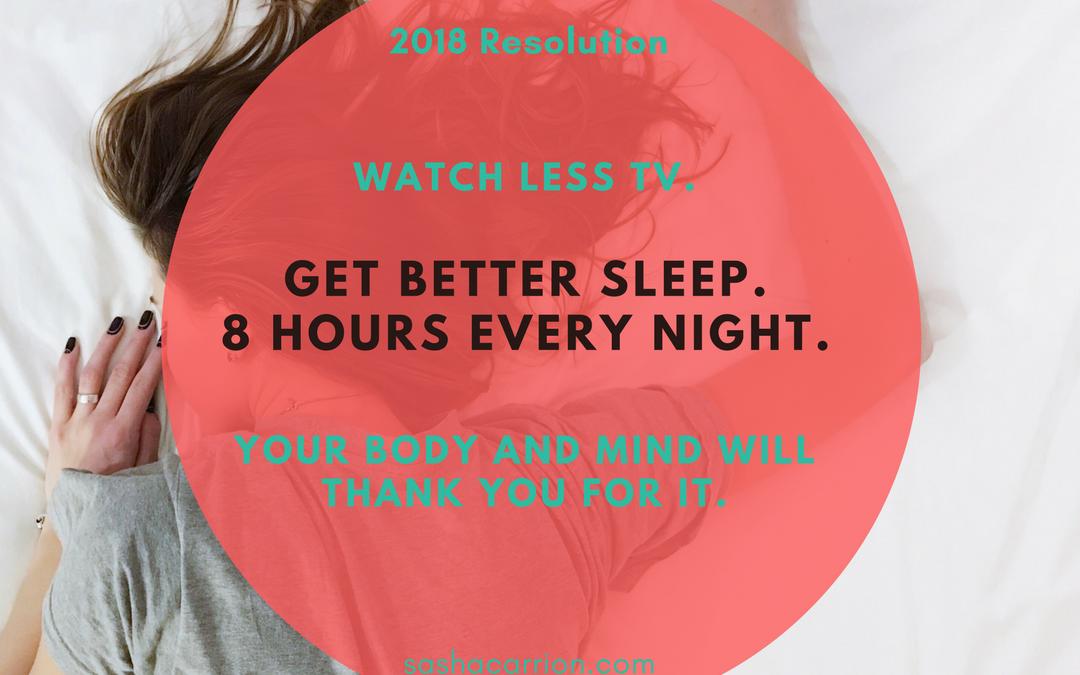 Resolution 2018: Sleep More